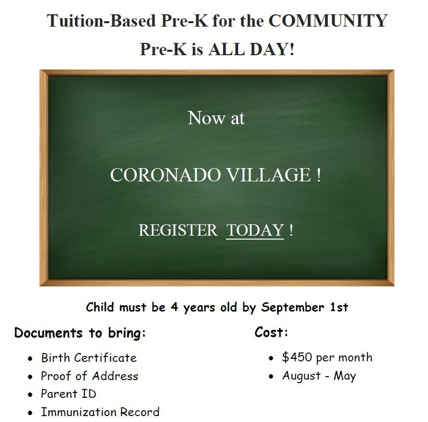 Tuition- Based Pre-K for Community