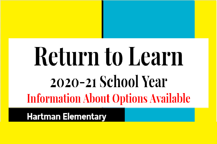 2020-2021 School Year Learning & Instructional Options