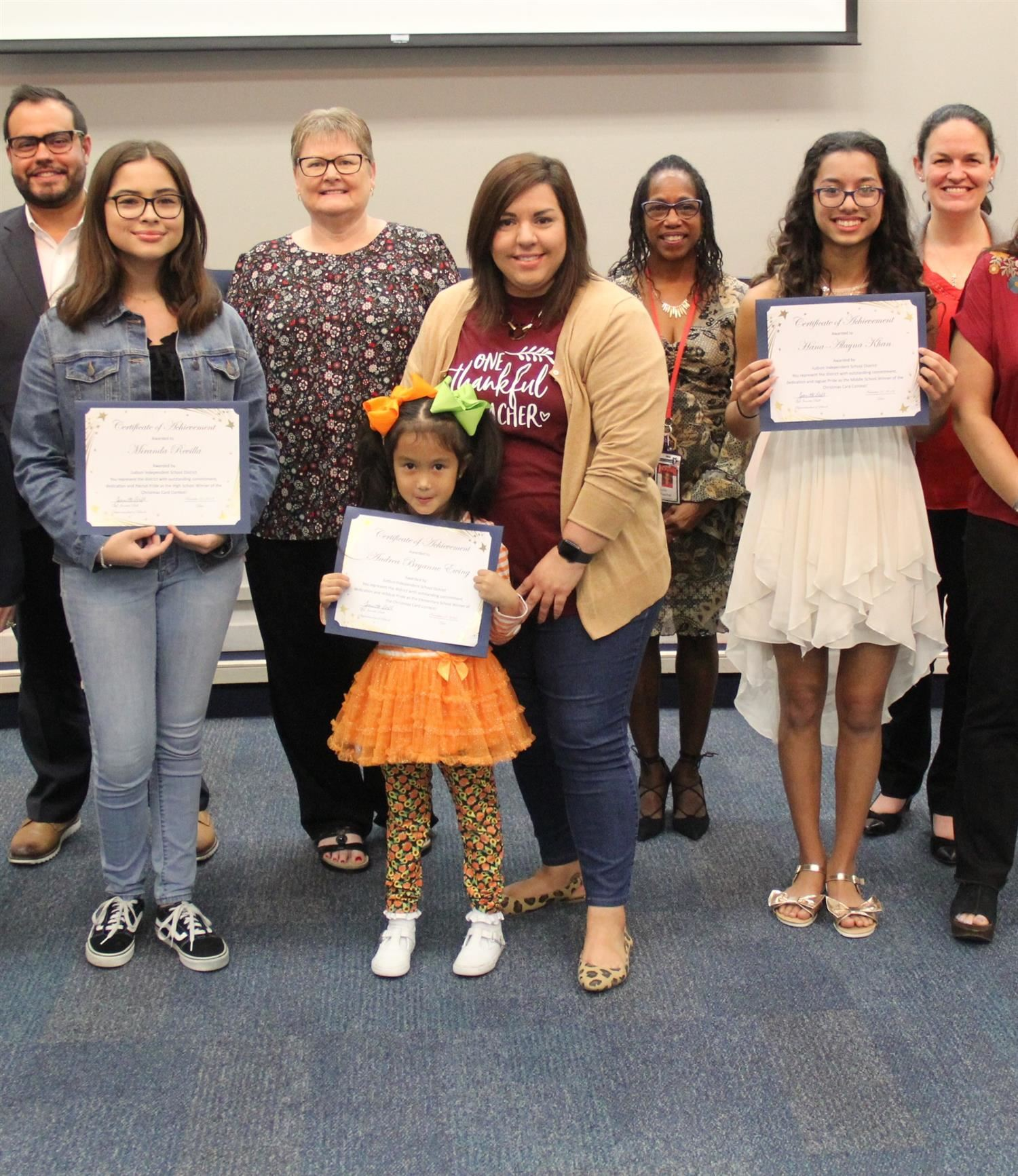 Board Recognitions: 11-21-19