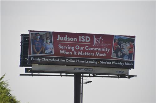 JISD Billboard along 1604 and Nacogdoches