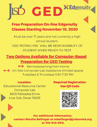 GED - Free Preparation On-line