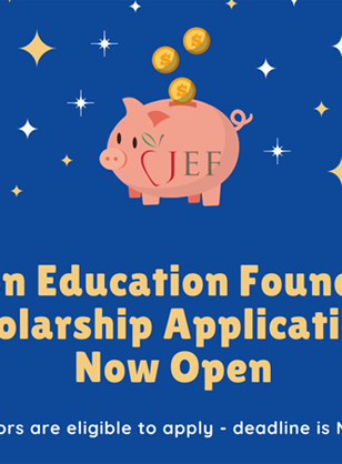 JEF Scholarship Applications Are Open...The Time Is NOW