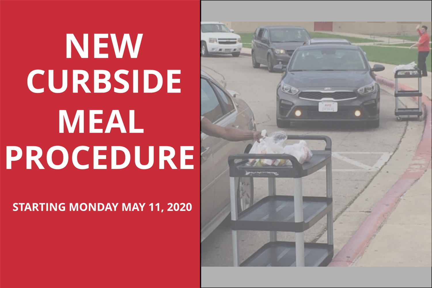 new curbside meal procedure