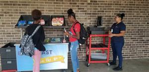 Breakfast kiosks at Judson MS