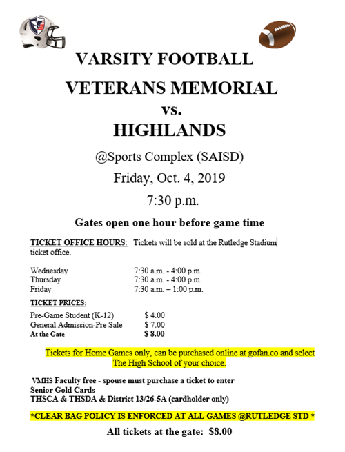 Veterans-Highlands game
