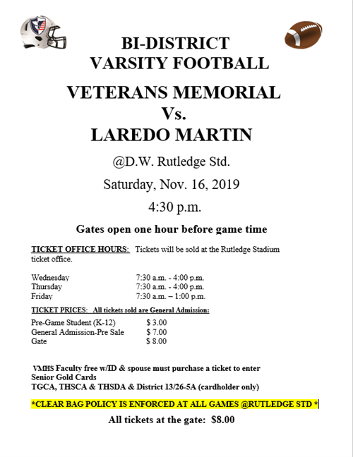 Veterans Memorial-Laredo Martin playoff