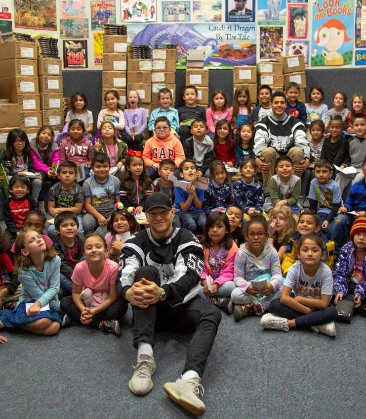 Hartman Gets Visit From Silver And Black Give Back