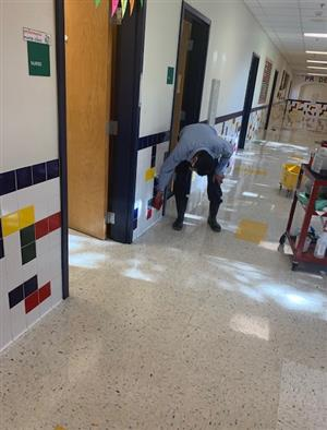Deep Cleaning by JISD Custodians