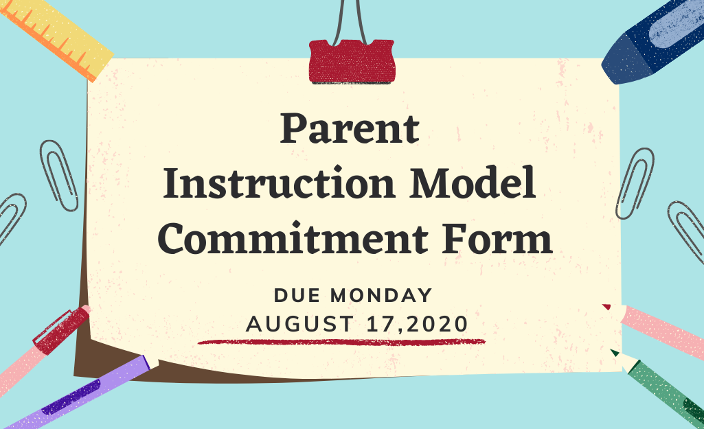 Instructional Model Parent Commitment Form