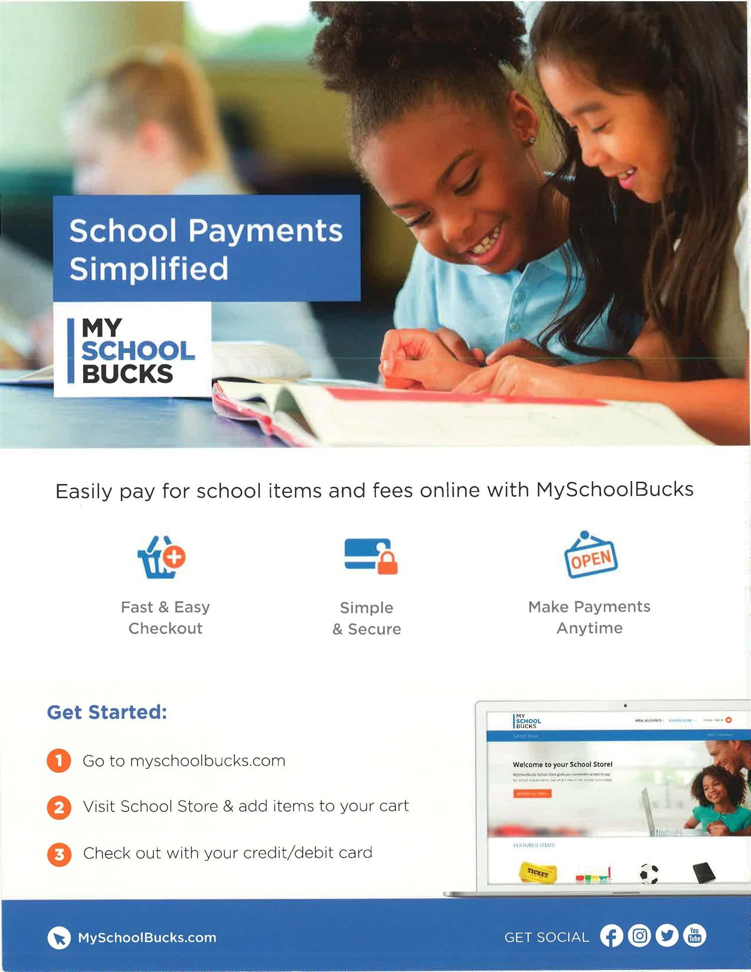 MySchoolBucks Flyer