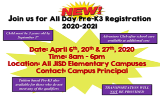 All Day PreK3 Registration/Inscripciones de PK3!